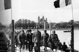 Militaria WW2 -  Le Général De Gaulle Passe Le Rhin à Spire Sur Un Pont Du Génie - 1939-45