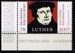 Bund 2017, Michel# 3300 ** 500 Jahre Reformation - Martin Luther - BRD