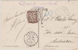 1909 - CP De GENEVE (SUISSE) Avec TAXE De VER SUR MER (CALVADOS) - Marcophilie (Lettres)