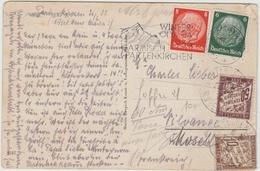 1936 - CP D'ALLEMAGNE Avec TAXE - Marcophilie (Lettres)