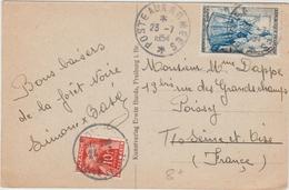 1954 - CP Avec TàD POSTE AUX ARMEES Avec TAXE GERBES - Marcophilie (Lettres)