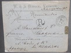 RUSSIE / POLOGNE - Enveloppe Commerciale En Recommandé De Varsovie Pour La France En 1897 , Affr. Au Verso - L 7111 - 1857-1916 Imperium