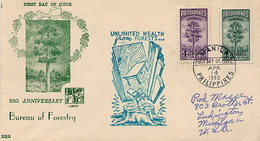 PHILIPPINES - FDC 1950 - FORESTRY - Vegetazione