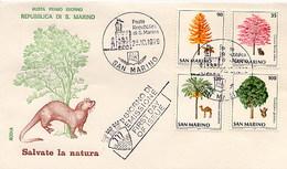 SAN MARINO FDC 1979 - FORESTRY - Vegetazione