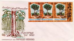 NOUVELLES HEBRIDES - FDC 1969  - FORESTRY - Vegetazione