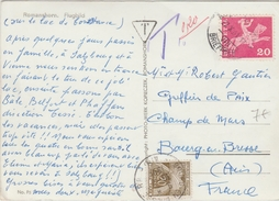 1961 - CP De SUISSE Avec TAXE GERBES - Marcophilie (Lettres)
