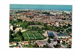 Cpm - 21 - DIJON - Vue Aérienne Rond Point Du Parc Stade Nautique Du Carrousel Piscine Olympique D'été Volley-ball - Dijon