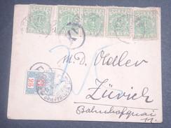 SUISSE - Taxe De Zurich Sur Enveloppe De Pologne En 1920 - L 7116 - Portomarken