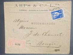 PORTUGAL - Enveloppe En Recommandé De Lisbonne Pour Bougie En 1912 , Affranchissement Recto Et Verso - L 7117 - Lettres & Documents