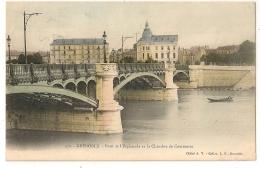 Belle Carte Colorisée. GRENOBLE. Pont De L'Esplande Et La Chambre De Commerce. - Grenoble