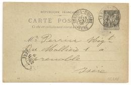 BOURG D'OISANS Isère Sur ENTIER SAGE. 1901. - 1877-1920: Période Semi Moderne