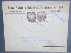 CHILI - Enveloppe De Santiago Pour La France En 1925 , Oblitération Croix Rouge - L 7127 - Chili