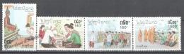 Laos 1992 Yvert 1062-65, National Costumes - MNH - Laos