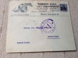 Belgique Belgie Lettre Pour Le Luxembourg 1916 Bruxelles Vernis Fins Bruxelles Censure - [OC38/54] Occ. Belg. In Ger.