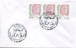 16998 Italia, Special Postmark 2010 Mores,  Showing Prehistory Dolmen - Preistoria