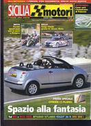 X SICILIA MOTORI 6/2003 87 Targa Florio 10^ 4^ Trofeo Florio Prova Citroen C3 Pluriel - Motori