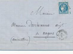 1871 20 C Bordeaux N° 46 Report II Obl Ambulant BP 1° TB. - Storia Postale