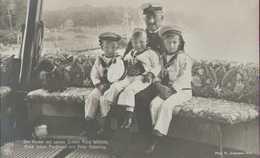 Kaiser Wilhelm II., Prinzen, Dackel, S.M.S. Hohenzollern, Deutsches Kaiserreich, Postkarte, Adel, Preußen - Royal Families