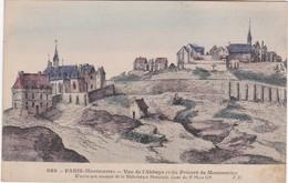 PARIS-Montmartre - Vue De L'Abbaye Et Du Prieuré - D'après Une Estampe De La BN Datée Du 19 Mars 1625 - Arrondissement: 18
