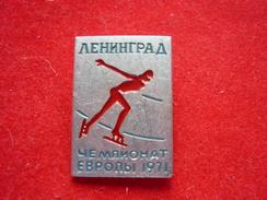 European Speed Skating Sport Championships - 1971 Leningrad USSR Pin - Sport Invernali