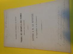 Livret De 8 Pages/Chambre De Commerce De TROYES/Travail Des Enfants Et Des Femmes Employés Dans L'Industrie/1872   VPN75 - Non Classés