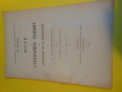 Livret De 1 Pages/Ch. De Com. De TROYES/Note Sur L'Enseignement Technique  Dans L'Industrie De La Bonneterie/1912  VPN76 - Unclassified