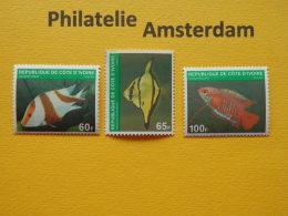 Ivory Coast 1980, FAUNA FISH FISCHE VISSEN POISSONS PECES PESCI: Mi 636-38, ** - Fishes
