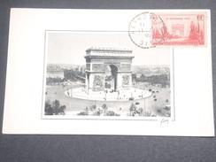 FRANCE - Carte Maximum De L 'Arc De Triomphe En 1938 - L 7157 - Maximum Cards