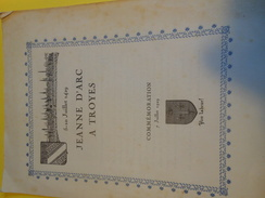 Plaquette Dépliant  à 4 Volets ( 8 Pages)/ Jeanne D'Arc à TROYES /Commémoration/1929     VPN78 - Publicidad