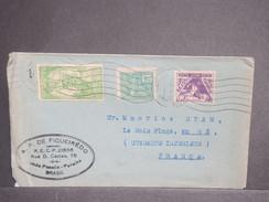 BRÉSIL - Enveloppe Pour La France En 1934 , Affranchissement Plaisant + Vignette Au Verso - L 7160 - Brésil