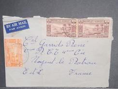 NOUVELLES HÉBRIDES - Enveloppe Pour La France , Affranchissement Plaisant - L 7161 - Légende Française