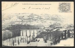 SAINT MARCELLIN Sous La Neige Et Viaduc Du Chemin De Fer (JRB)  Isère (38) - Saint-Marcellin