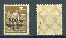 Deutsches Reich Michel-Nr. 259 Plattenfehler X Postfrisch - Geprüft