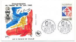 """FRANCE - Enveloppe - Cachet Temporaire """"C. De Gaulle 1er Résistant De France"""" - 62 OYE Plage - 18/6/1960 - De Gaulle (General)"""
