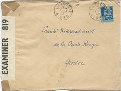 2 LETTRES 1943 AVEC CACHET DE LAGHOUAT ET BANDE ET CACHET DE CENSURE - Algérie (1924-1962)