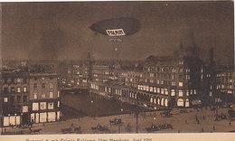 Parceval 6 Mit Palmin-Reklame über Hamburg - Werbekarte - 1911      (A35-151222) - Zeppeline