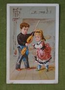 Belle Chromo Scène - Le Choix Du Poulet Chez Le Rotisseur - Liqueur De L'abbaye De Vichy Vers 1880 - Ed Danmanville - Cromo