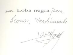 LOBA NEGRA POESIA LIBRO DE PAULA YASAN DEDICADO Y AUTOGRAFIADO POR LA AUTORA AÑO 1999 80 PAGINAS - Poetry