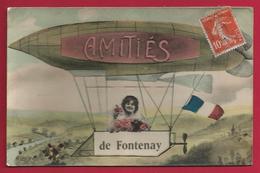 CPA Fontenay Sous Bois - Amitiés De Fontenay - Adressée Rue Des Rabières à Champigny Sur Marne - Fontenay Sous Bois