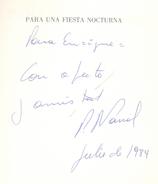 PARA UNA FIESTA NOCTURNA LIBRO DE PABLO NARRAL EDICIONES ULTIMO REINO DEDICADO Y AUTOGRAFIADO POR EL AUTOR - Poésie