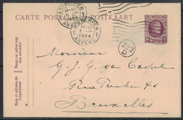 TI237     BELGIQUE - BELGIE 1924 Antwerpen Postal Stationary To Brussels - Cartoline [1909-34]