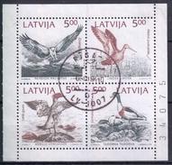 LETONIA 1992 Nº 304/07 USADO EN BLOQUE - Letonia