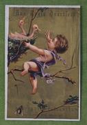 2 Belles Chromos Fonds Or - Enfant - Aux Trois Quartiers, Vers 1880, Imp D. Hutinet - Other