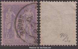 5Fr Sage Violet/lilas TB (Y&T N° 95, Cote: 90€) - 1876-1898 Sage (Type II)