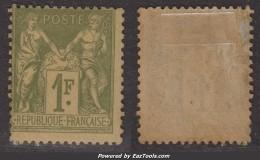 1Fr Sage Neuf * Aspect TB (Y&T N° 82, Cote  225€€) - 1876-1898 Sage (Type II)