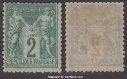 2c Sage  Type II Neuf * TB (Y&T N° 74, Cote  150€) - 1876-1898 Sage (Type II)