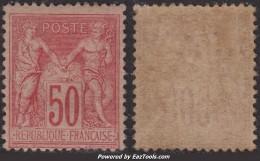 50c Sage Rose  Neuf ** Sans Charnière (Y&T N° 98, Cote  410€€) - 1876-1898 Sage (Type II)