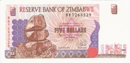 ZIMBABWE   5 Dollars   1997   P. 5b   AUNC - Zimbabwe