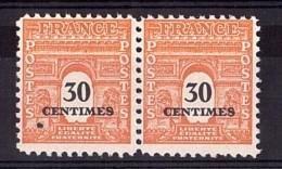 1945 - Point D'encre De Surcharge En Surplus - N° 702 Neuf ** - Arc De Triomphe - Variétés Et Curiosités