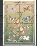 CONGO Nº 1522KF AL 1522KM - Papillons